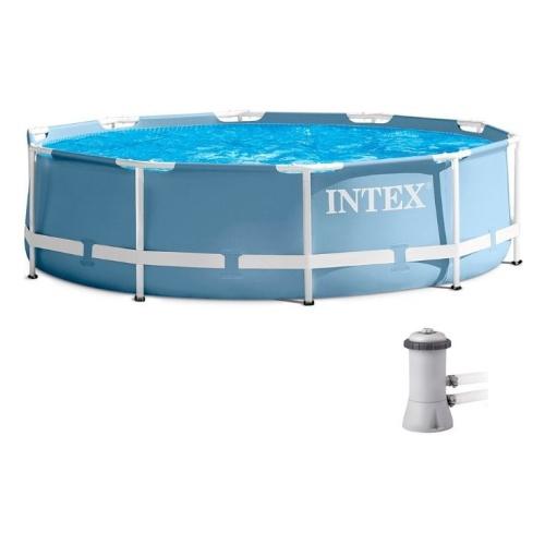 Бассейн каркасный круглый + фильтр-насос Intex 305х76 см (28702)