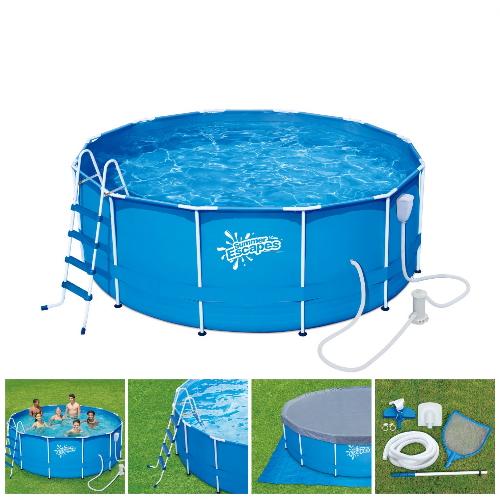 Бассейн каркасный круглый Summer Escapes 366х132 см (Р20-1252-B)