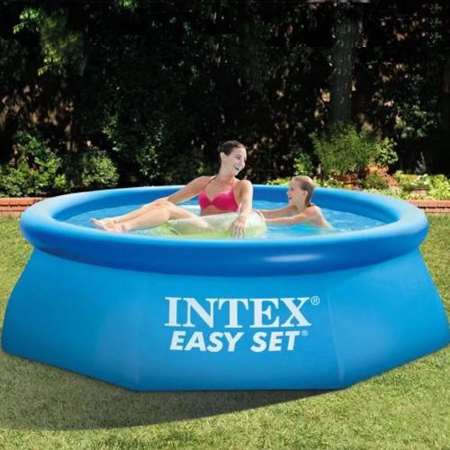 Бассейн с надувным верхним кольцом Intex 244х76 см (28110)