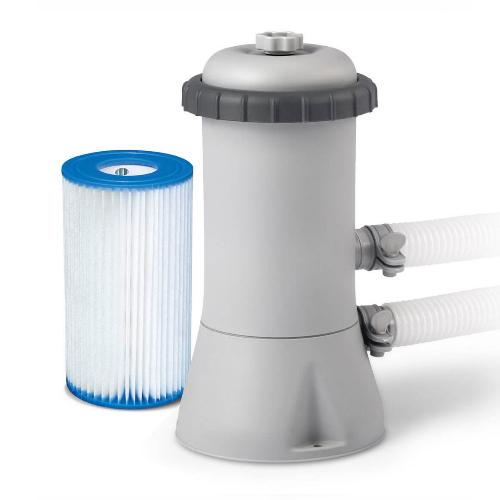 Картриджный фильтр-насос Intex 28604 2006 л/ч, картридж А, для бассейнов от 366 до 457 см