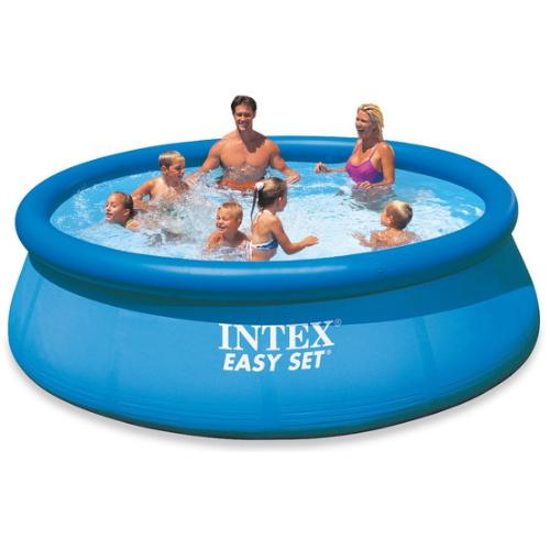Надувной бассейн с надувным верхним кольцом Intex 396х84 см (28143)