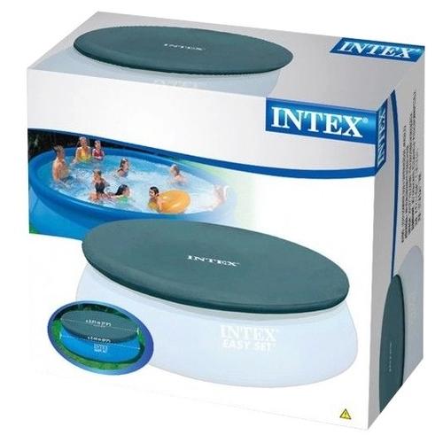 Тент для бассейна с верхним надувным кольцом Intex 244 см (28020)